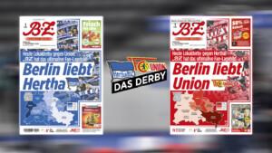 B.Z. mit Wende-Cover zum Derby zwischen Hertha und Union
