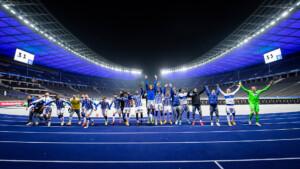So feiert Hertha den Derby-Sieg über Union